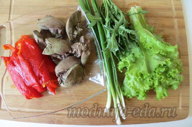 Салат с куриной печенью диетический рецепт
