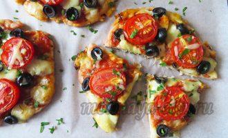 Пицца без теста на курином филе