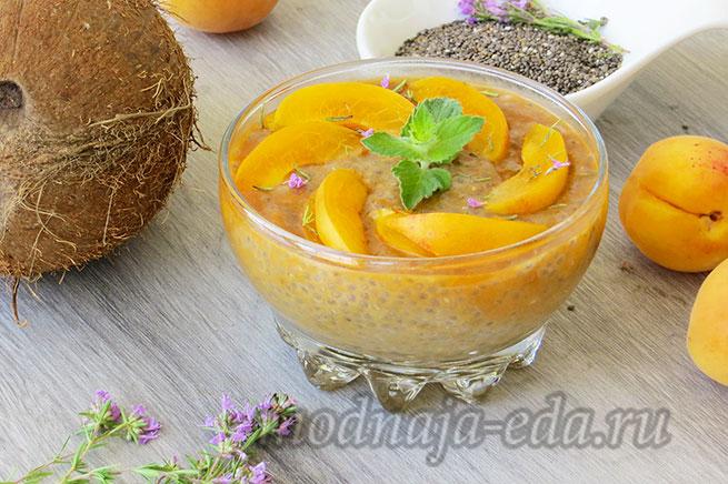 Чиа-пудинг с абрикосами