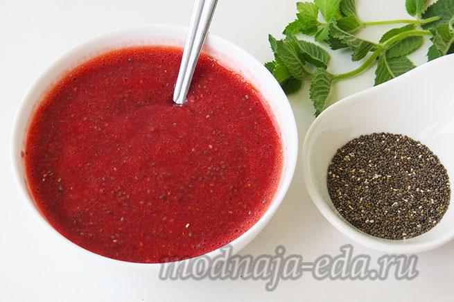 Клубничный джем без сахара с семенами чиаК