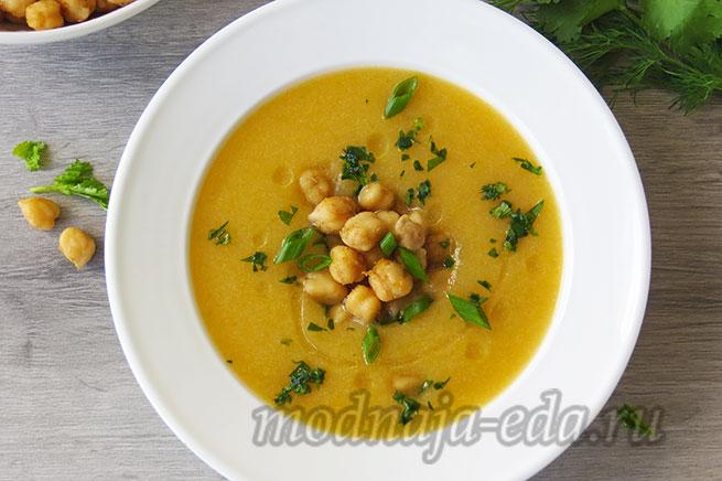 Овощной суп-пюре с нутом и зеленью