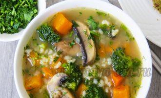 Рисовый суп с бататом