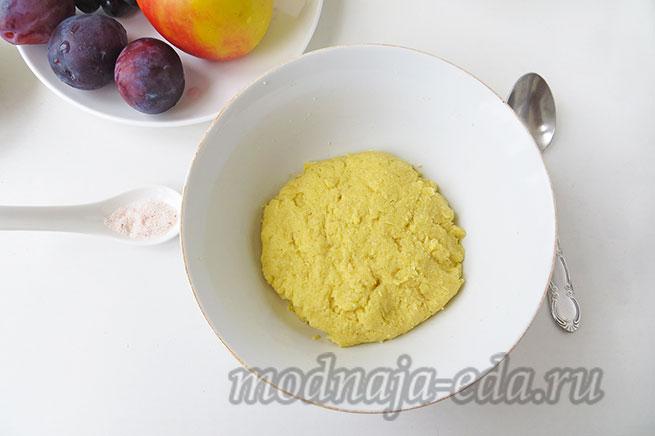 Галета с фруктами; готовое тесто