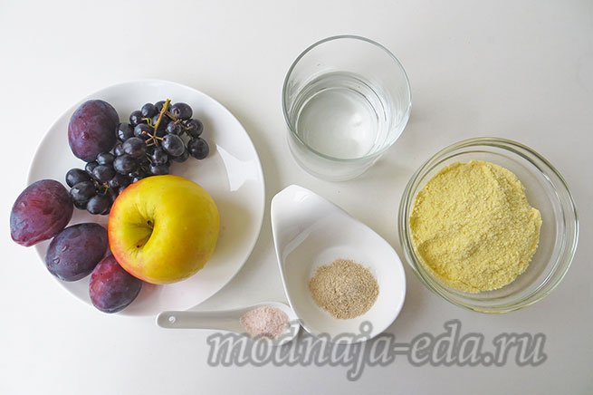 Галета с фруктами; ингредиенты