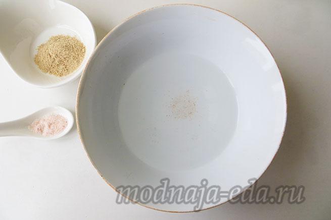 Галета с фруктами - вода и соль