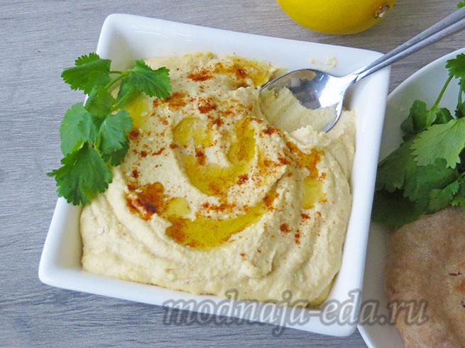 Готовый хумус с оливковым маслом