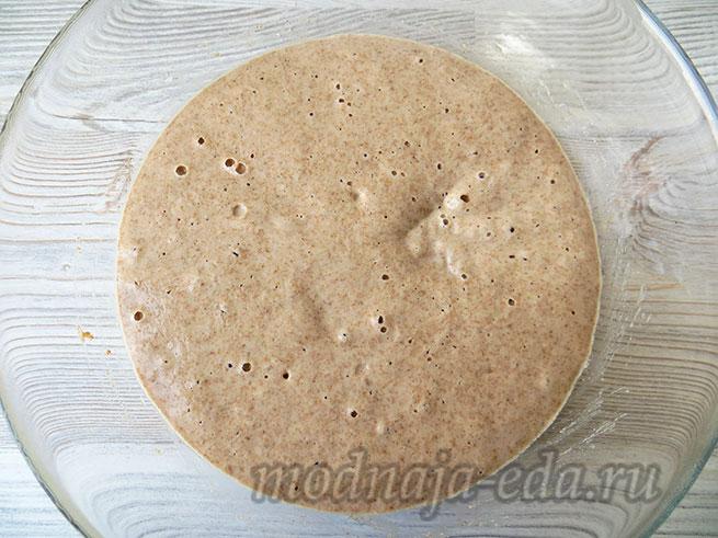 Тесто для хлеба: готовая опара