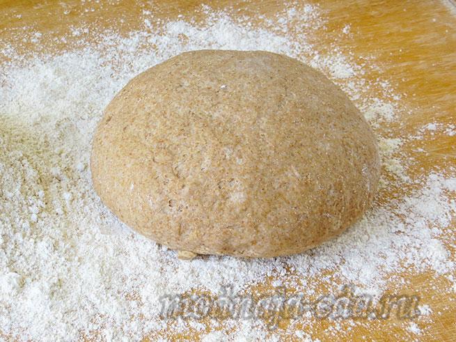 Тесто для хлеба из цельнозерновой муки