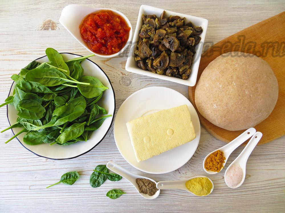 Перепечи с грибами; ингредиенты