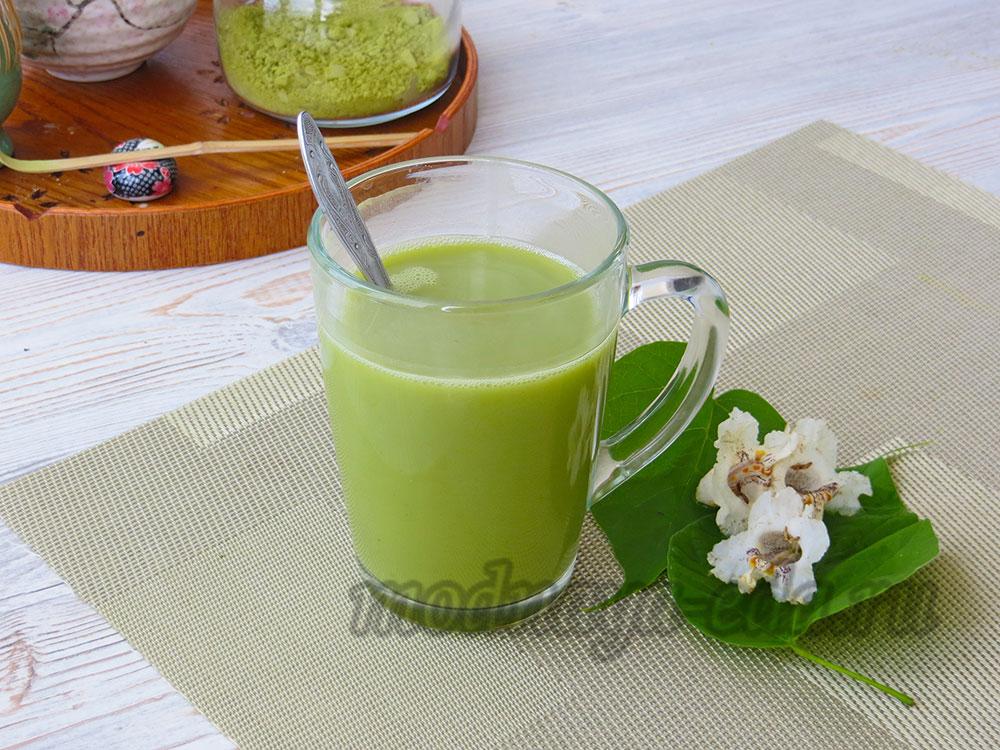 Чай матча с молоком