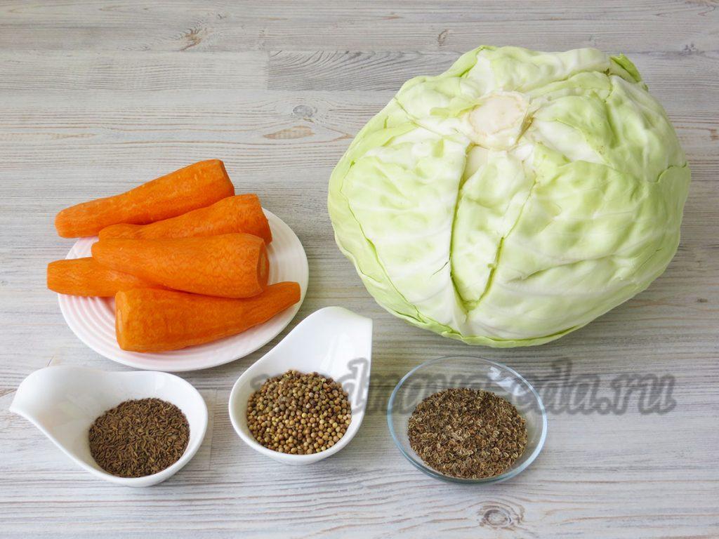 Квашеная капуста, ингредиенты